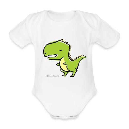 Dino_B - Organic Short-sleeved Baby Bodysuit