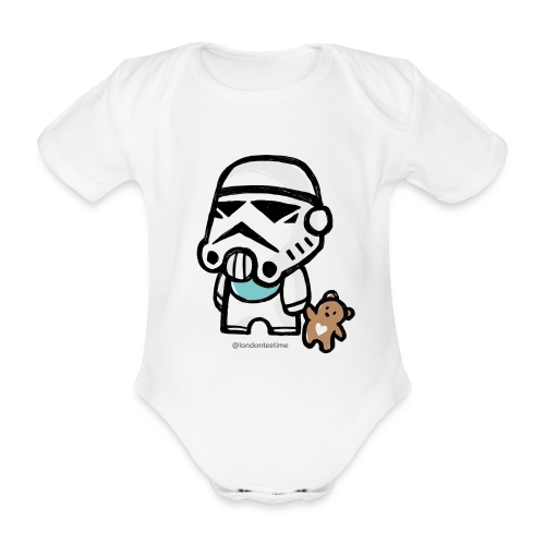 Stormtrooper_B/ blue - Organic Short-sleeved Baby Bodysuit