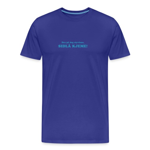 Sidlå kjeme turkis - Premium T-skjorte for menn
