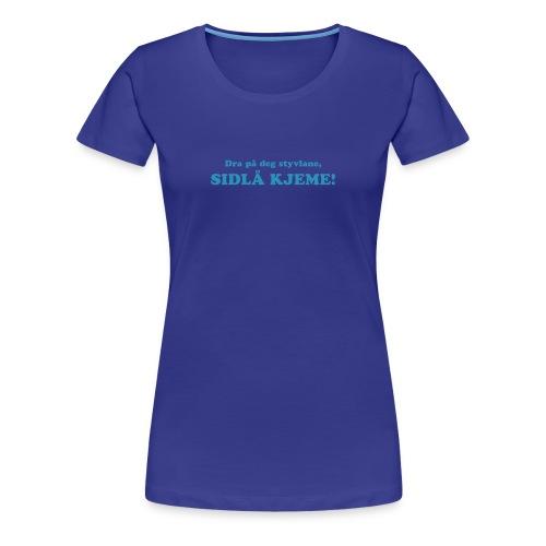 Sidlå kjeme gul (dame) - Premium T-skjorte for kvinner