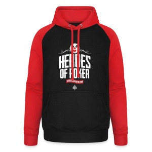 Heroes of Poker - Clown - Unisex Baseball Hoodie