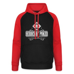 Heroes of Poker - Texas - Unisex Baseball Hoodie