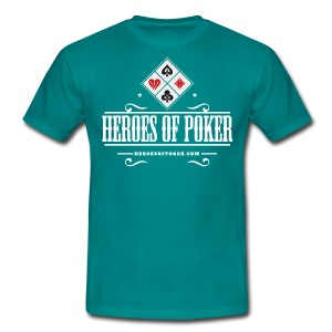 Heroes of Poker - Texas - Männer T-Shirt