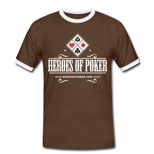 Heroes of Poker - Texas - Männer Kontrast-T-Shirt