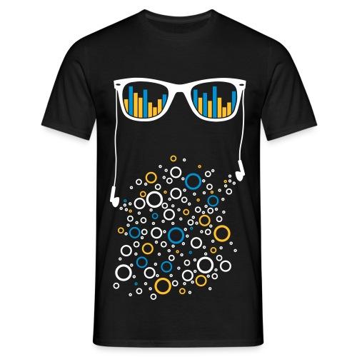 Aufgedrehte Brille - Männer T-Shirt