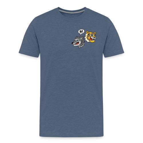 Hi, Wolf & Tiger! T-Shirt für Männer - Männer Premium T-Shirt