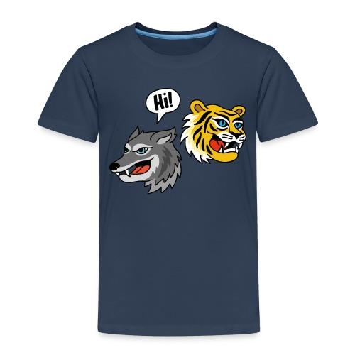 Hi, Wolf & Tiger T-Shirt für Kinder - Kinder Premium T-Shirt