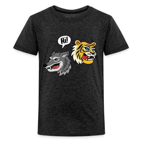 Hi, Wolf & Tiger T-Shirt für Teens - Teenager Premium T-Shirt