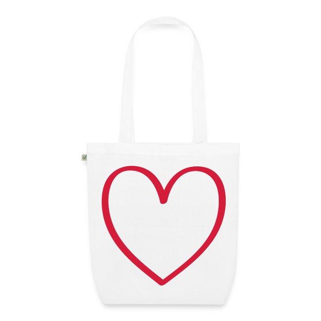 69e4949ee Citruskids | Corazón transparente - Bolsa de tela ecológica