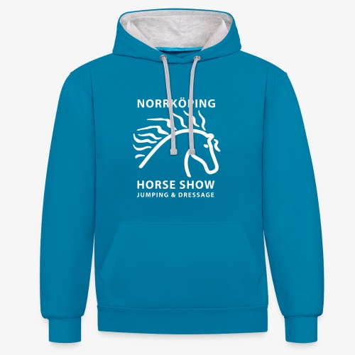 Unisex hoodie - Kontrastluvtröja