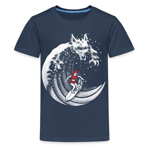 Little Red Surfing Hood - Teenage Premium T-Shirt