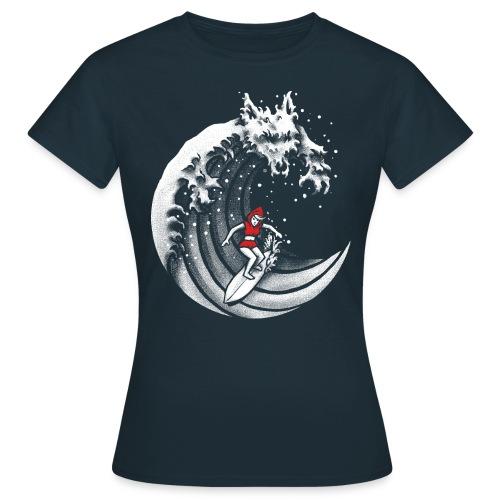 Little Red Surfing Hood - Women's T-Shirt