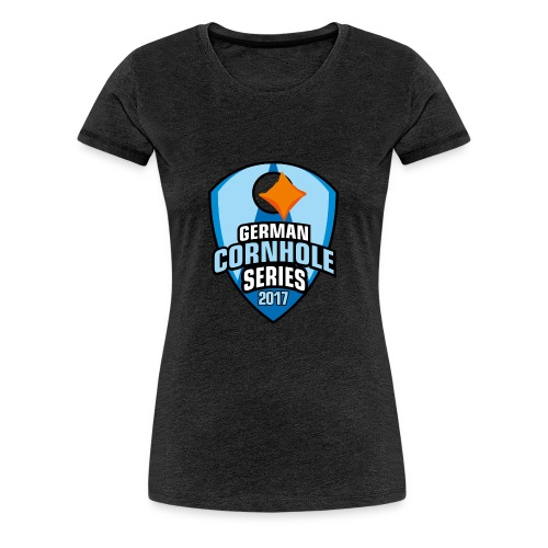 German Cornhole Series 2017 Fanshirt woman - Frauen Premium T-Shirt