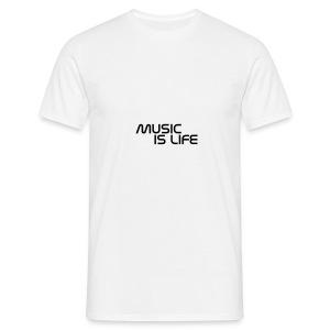 music is life - Mannen T-shirt
