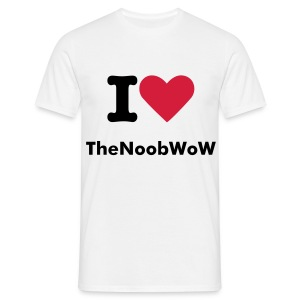 I love TheNoobWoW (FACE ONLY) - T-shirt Homme