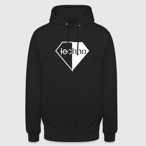 Diamond Techno Rave Festival Logo Electro Clubbing Pullover & Hoodies - Unisex Hoodie