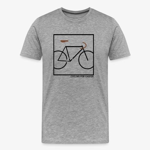 Mannen T-shirt premium met Fixie print - Mannen Premium T-shirt