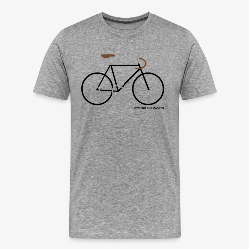 T-shirt with Fixie print - Mannen Premium T-shirt