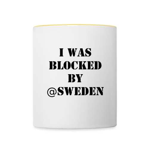 Blocked by Sweden - Mugg - Tvåfärgad mugg