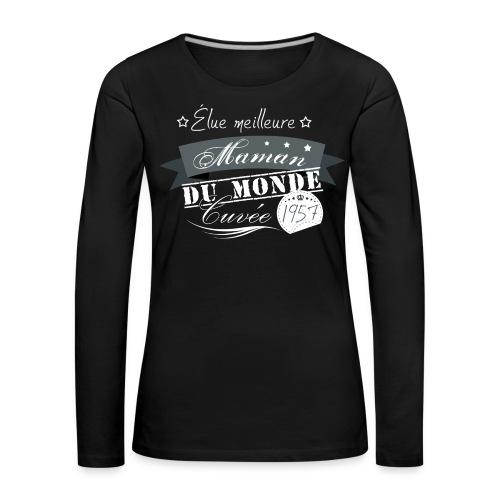 Meilleure Maman - T-shirt manches longues Premium Femme