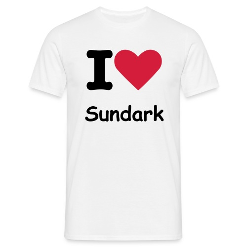 I love Sundark (FACE ONLY) - T-shirt Homme