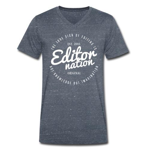EN | V Shirt - Männer Bio-T-Shirt mit V-Ausschnitt von Stanley & Stella