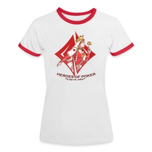 Heroes of Poker - Queen of Diamonds - Frauen Kontrast-T-Shirt