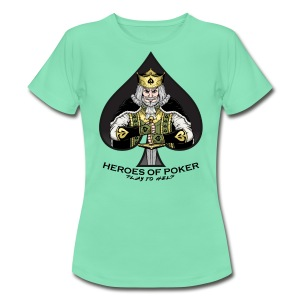 Heroes of Poker - Queen of Diamonds - Frauen T-Shirt