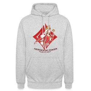 Heroes of Poker - Queen of Diamonds - Unisex Hoodie