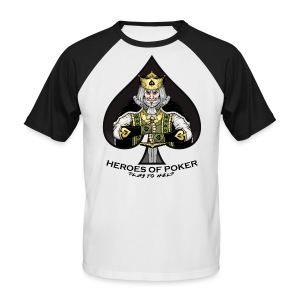 Heroes of Poker - Queen of Diamonds - Männer Baseball-T-Shirt
