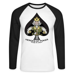 Heroes of Poker - King of spades - Männer Baseballshirt langarm