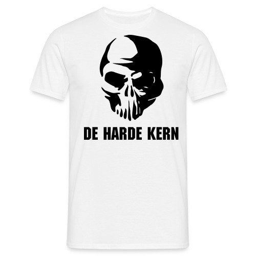 De harde kern (basis shirt) - wit - Mannen T-shirt