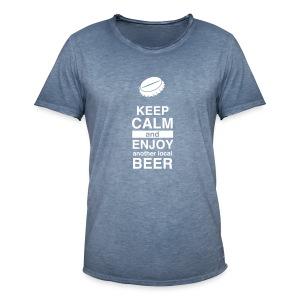 Keep Calm – Enjoy Local Beer (Vintage – blue) - Männer Vintage T-Shirt