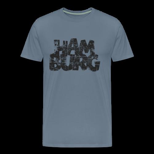 Hamburg (Vintage Schwarz) S-5XL T-Shirt - Männer Premium T-Shirt
