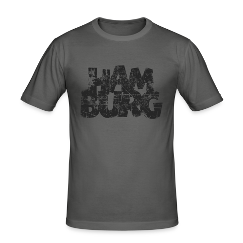 Hamburg (Vintage Schwarz) Slim Fit T-Shirt - Männer Slim Fit T-Shirt