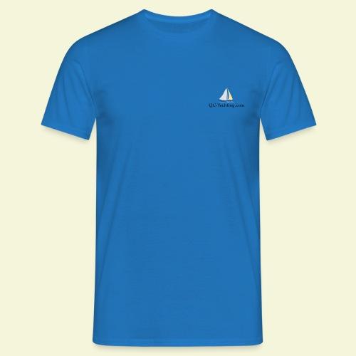 T-Shirt mit QC-Yachting vorne und Sans Souci hinten - Männer T-Shirt