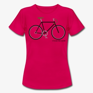 Tshirt dames with fixie print - Vrouwen T-shirt