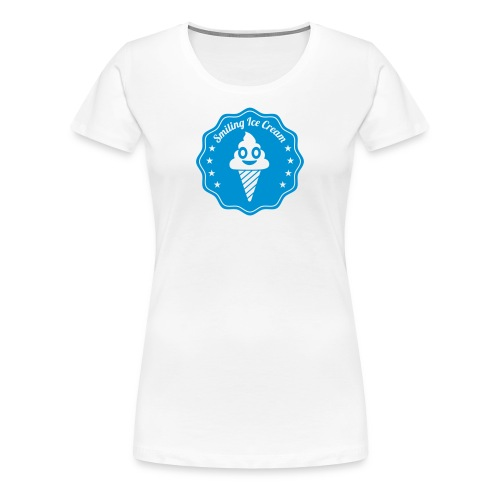 Smiling Ice Cream Batch - Frauen Premium T-Shirt