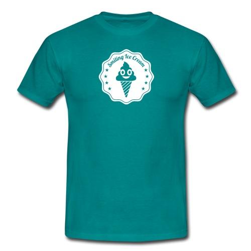 Smiling Ice Cream Batch - Männer T-Shirt