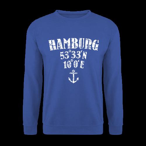 Hamburg Koordinaten (Vintage/Weiß) Pullover - Männer Pullover