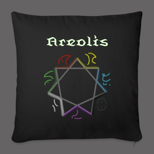 Areolis - Black Sofa Pillowslip - Sofa pillow cover 44 x 44 cm