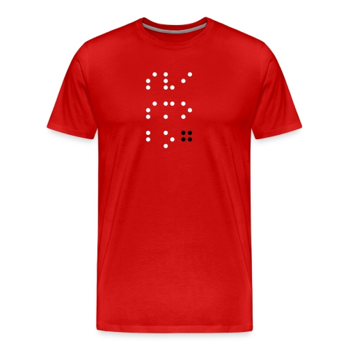 Men's Premium T-Shirt - Svi Smo Bog! Braille