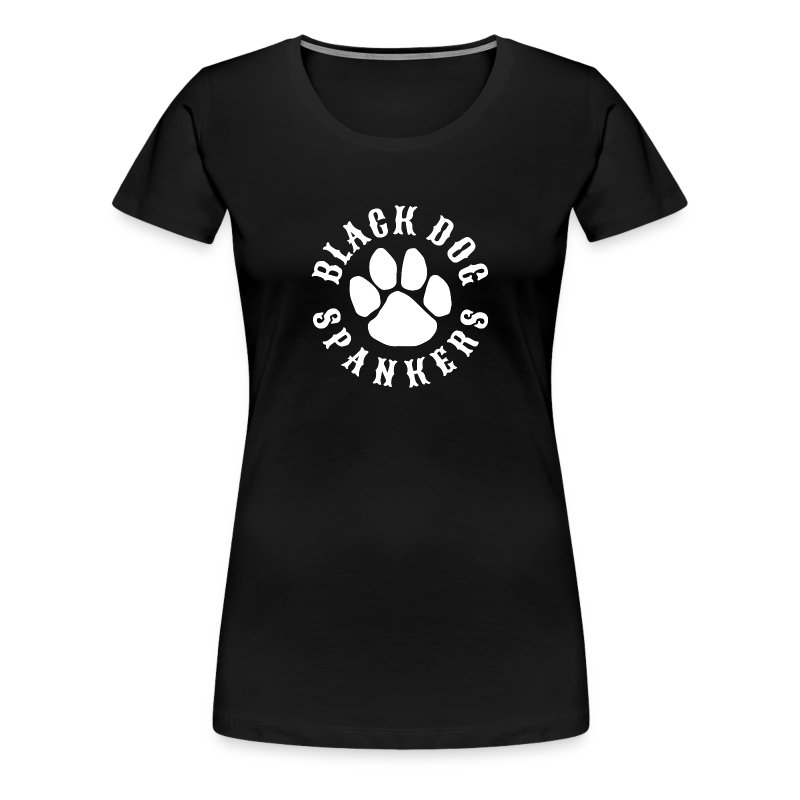 Black Dog Spankers Lady shape - white print - Women's Premium T-Shirt