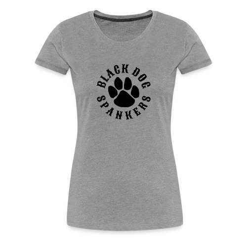 Black Dog Spankers Lady shape - black print - Women's Premium T-Shirt