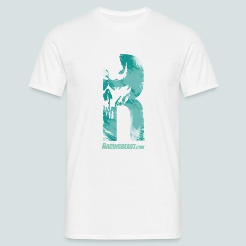 Racingbeast R-Design (white/bermuda) - Männer T-Shirt