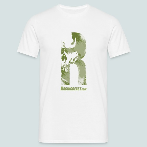 Racingbeast R-Design (white/olive) - Männer T-Shirt