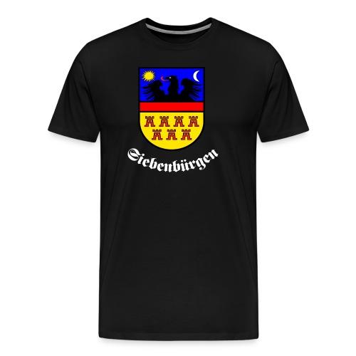TShirt mit großem Siebenbürgen-Wappen und Schrift Siebenbürgen - Männer Premium T-Shirt