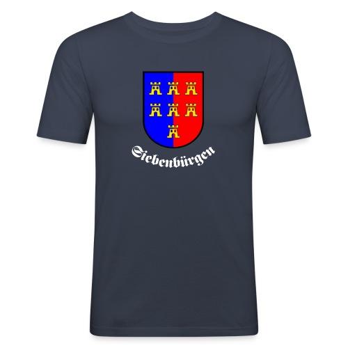 T-Shirt Siebenbürgen mit dem Wappen der Siebenbürger Sachsen - Männer Slim Fit T-Shirt