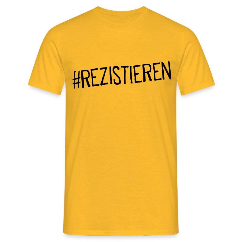 #Rezistieren - Männer T-Shirt