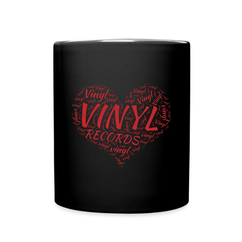 I Love Vinyl Records Heart - Full Colour Mug